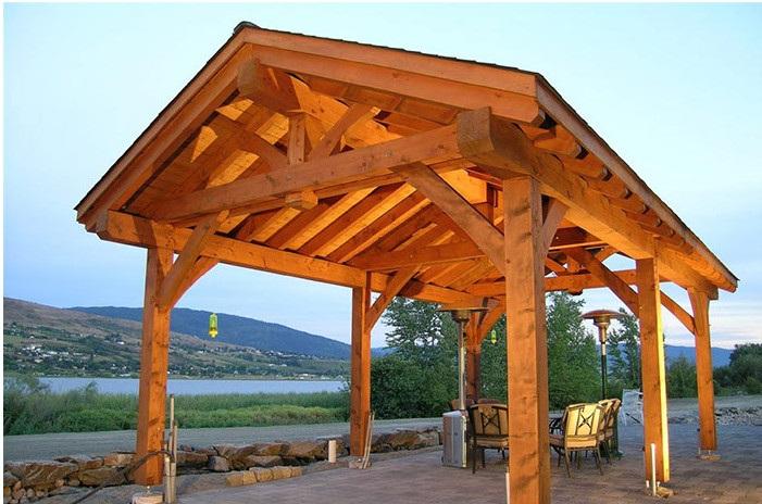 timber frame gazebo pergola deck structures